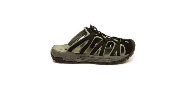 Dámské černo-šedé nazouvací sandály Numero Uno