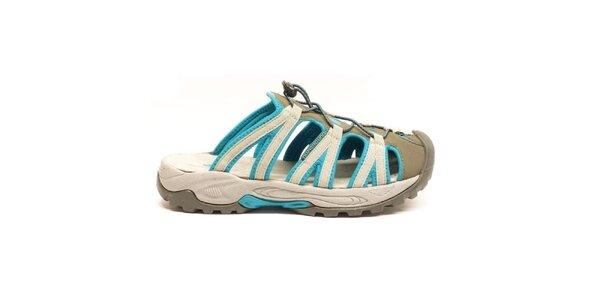 Pánské modro-šedé nazouvací sandály Numero Uno