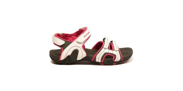 Dámské bílo-červené trekové sandálky Numero Uno