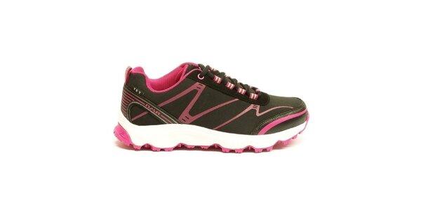 Dámské růžovo-černé trekové boty Numero Uno