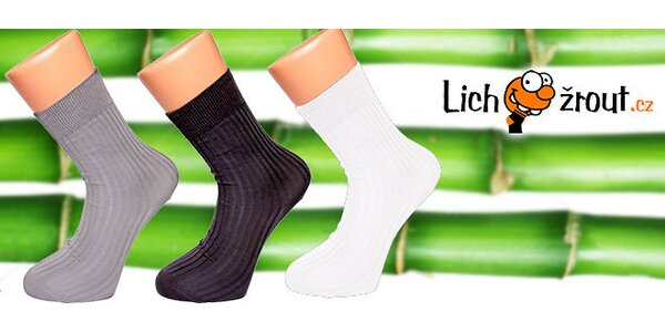6 párů ponožek z bambusového vlákna