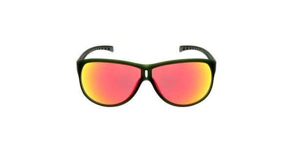Zelené sluneční brýle s červenými skly Red Bull