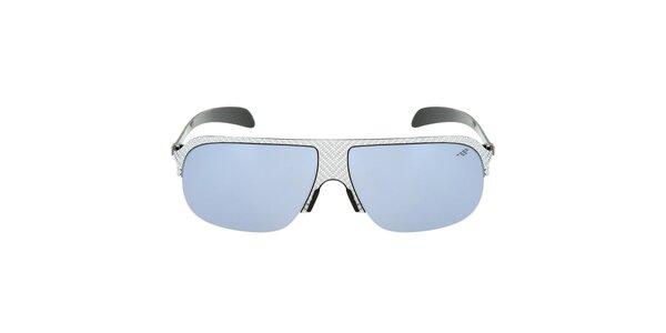 Kovové sluneční brýle s modře zabarvenými sklíčky Red Bull