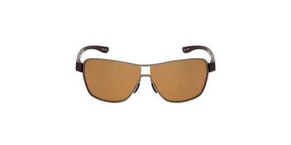 Hnědé kovové sluneční brýle Red Bull