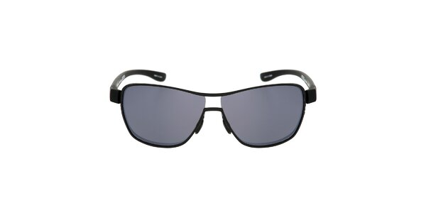 Černé kovové sluneční brýle s šedými skly Red Bull
