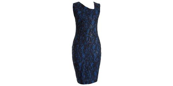 Dámské modré krajkové šaty s flitry JDC London