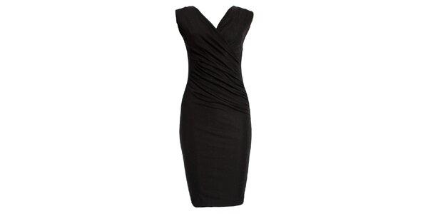 Dámské třpytivé černé šaty JDC London