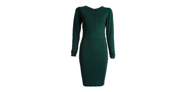 Dámské zelené šaty s dlouhými rukávy JDC London