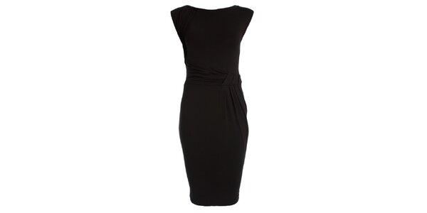 Dámské černé šaty s nabíraným pasem JDC London