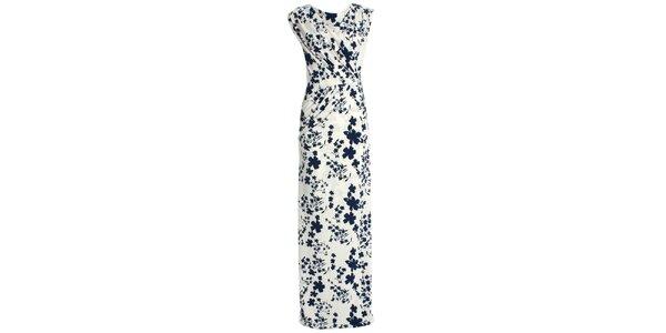 Dámské krémově bílé šaty s květinovým potiskem JDC London