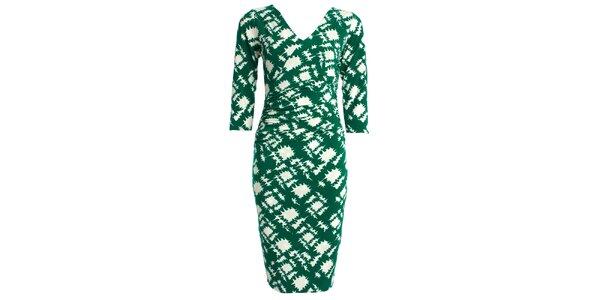 Dámské zeleno-bílé šaty JDC London