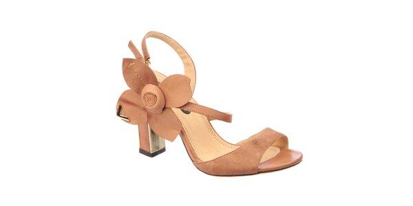 Dámské sandálky s ozdobnou květinou Betsy