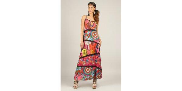Dámské barevné šaty s černými lemy Ziva