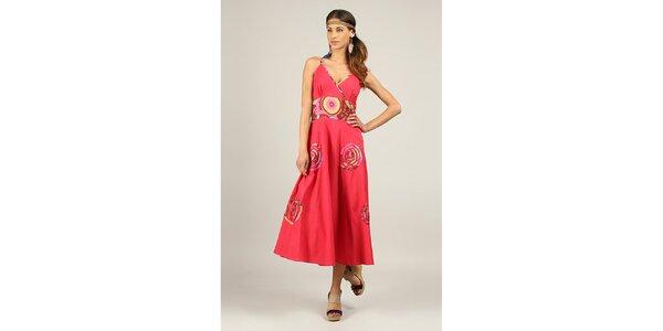Dámské fuchsiově červené dlouhé šaty Ziva