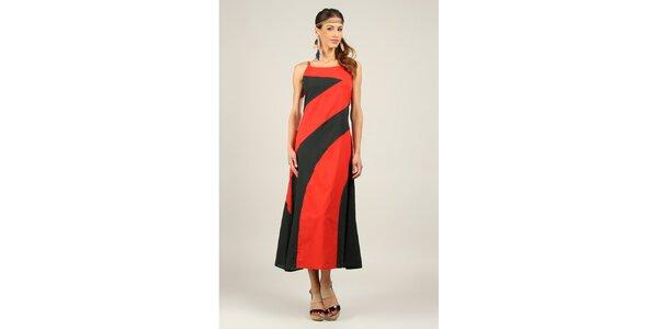 Dámské červeno-černé šaty Ziva