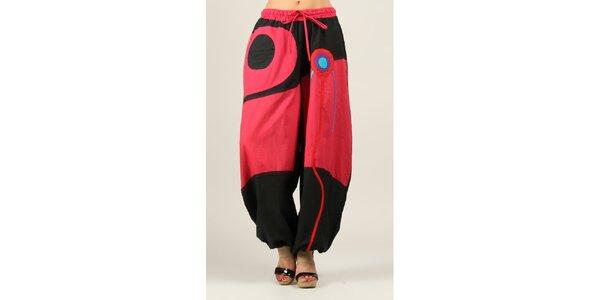 Dámské černo-fuchsiové kalhoty Ziva