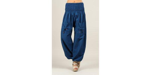 Dámské modré kalhoty Ziva