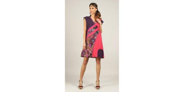 Dámské fialovo-růžové šaty Ziva