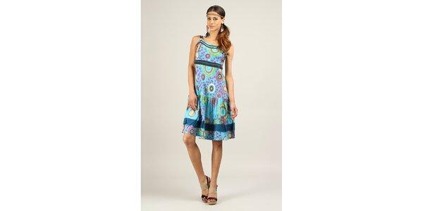 Dámské světle modré šaty s dvojitými ramínky Ziva