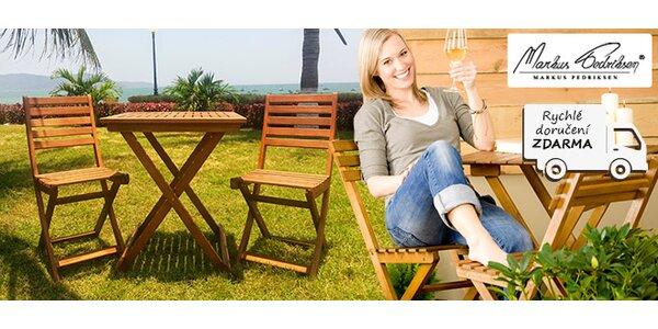 Eukalyptové židle a stolek Bistro na balkón i terasu