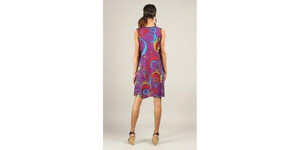 Dámské krátké fialové šaty s potiskem Ziva