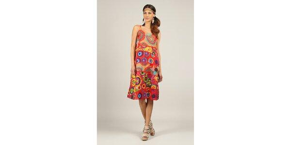 Dámské barevné šaty s červenými lemy Ziva