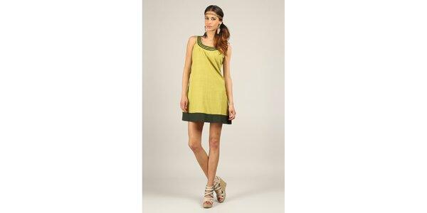 Dámské žlutozelené šaty Ziva