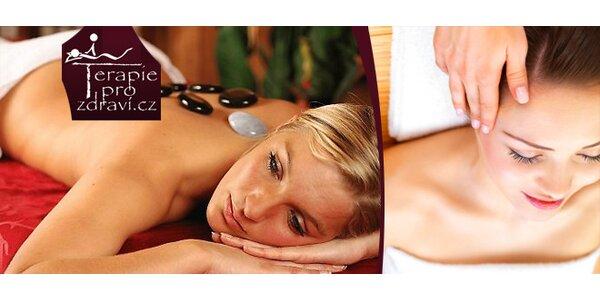 Uvolňující masáž zad a šíje, masáž hlavy, chodidel, včetně regeneračního zábalu…