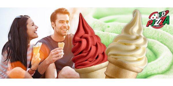 Velká porce točené zmrzliny pro 1–2 mlsaly