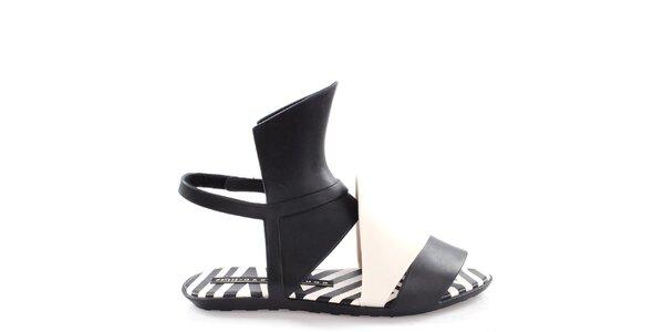 Dámské černo-bílé sandálky Melissa