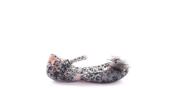 Dámské baleríny s černě vzorovaným vnitřkem Melissa