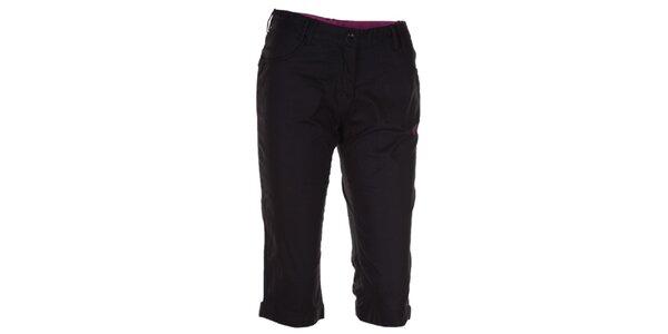 Dámské černé 3/4 kalhoty Kilpi