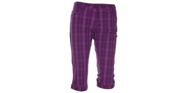 Dámské fialově kostkované 3/4 kalhoty Kilpi