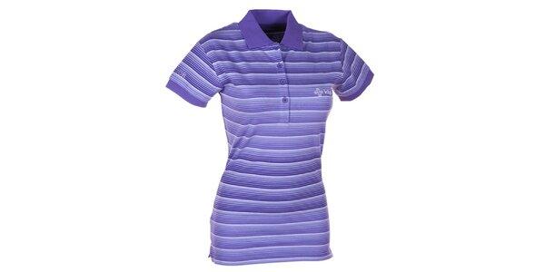Dámské fialové pruhované polo triko Kilpi