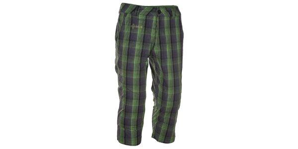 Pánské zeleně kostkované 3/4 kalhoty Kilpi