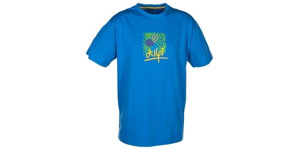 Pánské modré tričko s barevným potiskem Kilpi