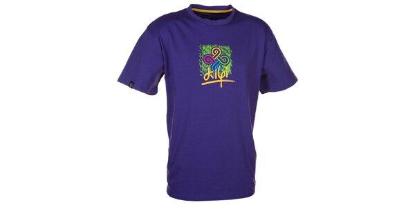 Pánské fialové tričko s barevným potiskem Kilpi