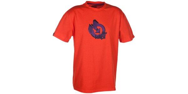 Pánské oranžové triko s krátkým rukávem a barevným potiskem Kilpi