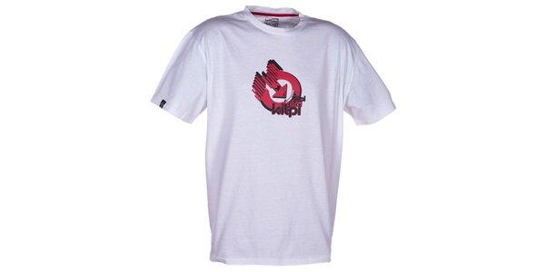Pánské bílé triko s krátkým rukávem a barevným potiskem Kilpi