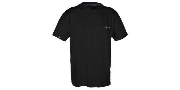 Pánské černé triko s krátkým rukávem Kilpi