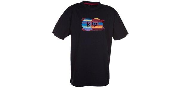 Pánské černé tričko s obrázkem Kilpi