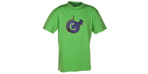 Pánské zelené tričko s fialovým potiskem Kilpi