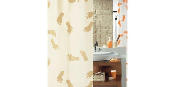 Sprchový závěs FEET sand PEVA 180 x 200 cm