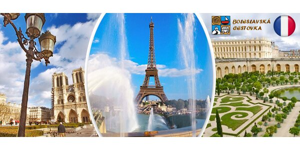 Prodloužený víkend v Paříži a Versailles