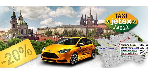 20% sleva na taxi JeTAX