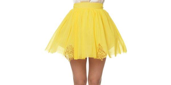 Dámská kanárkově žlutá sukně Dia Vynne