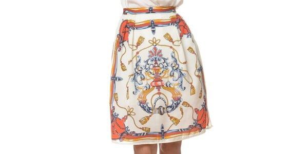 Dámská bílá sukně s potiskem Dia Vynne