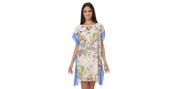 Dámské šátkové šaty s modrými lemy Dia Vynne