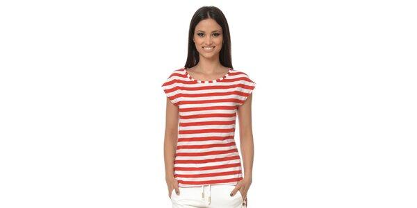 Dámské červeně pruhované tričko Dia Vynne