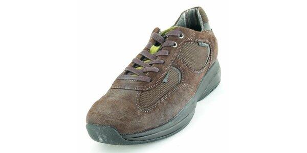Pánské hnědé semišové boty Geox